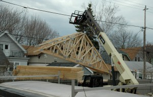 Unloading the trusses